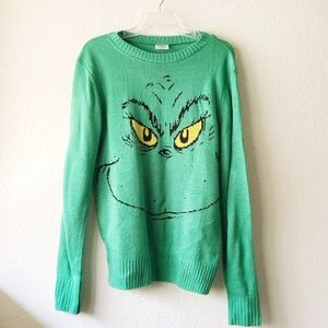 Sweaters - Holiday Christmas Dr. Seuss Grinch Sweater Green